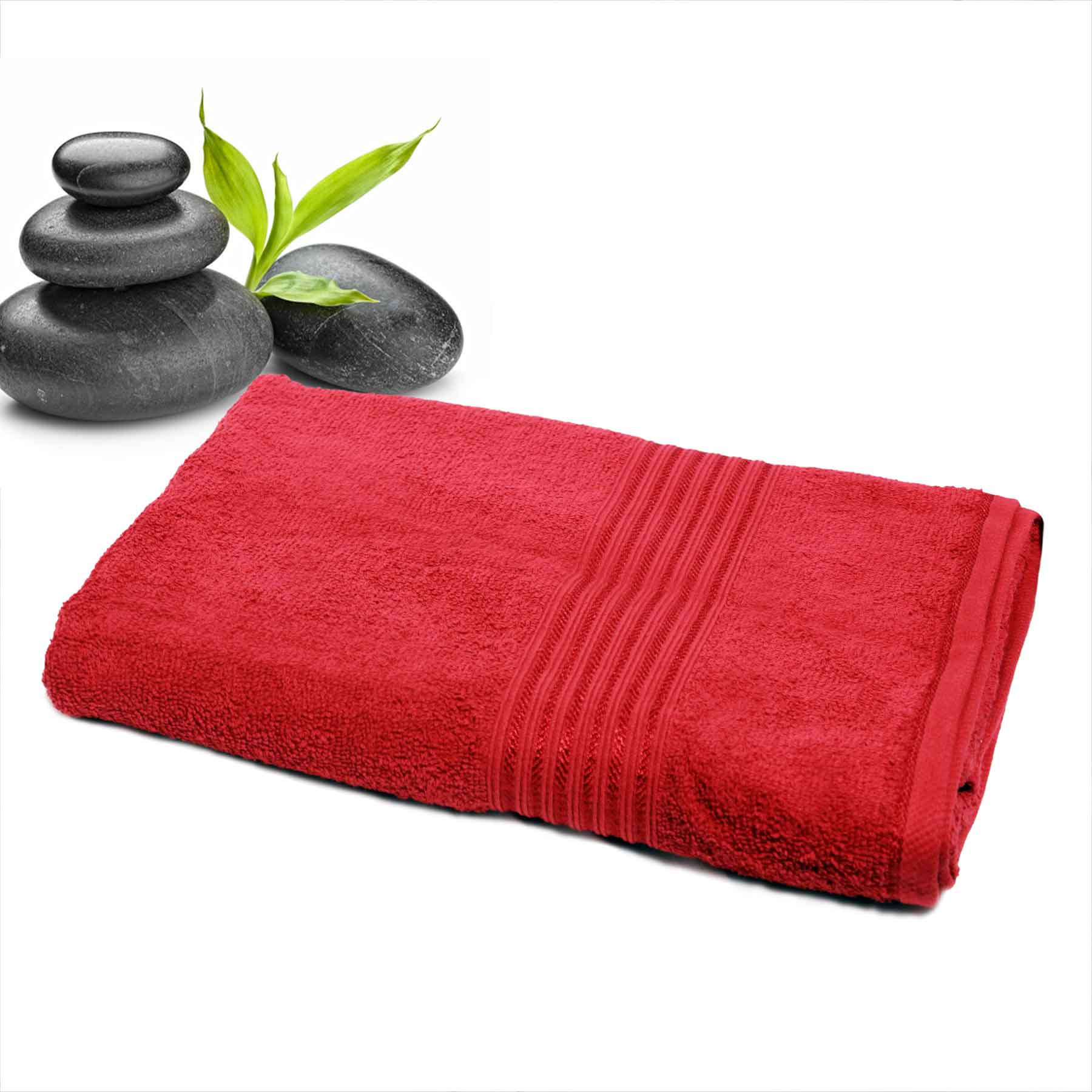 DIVINE CASA Single Cotton Bath Towel Red (Ladies)