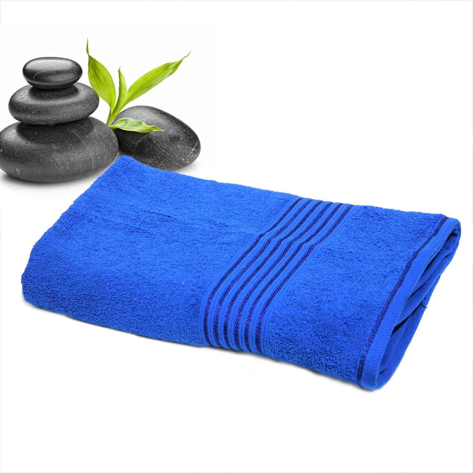 DIVINE CASA Single Cotton Bath Towel Blue (Ladies)