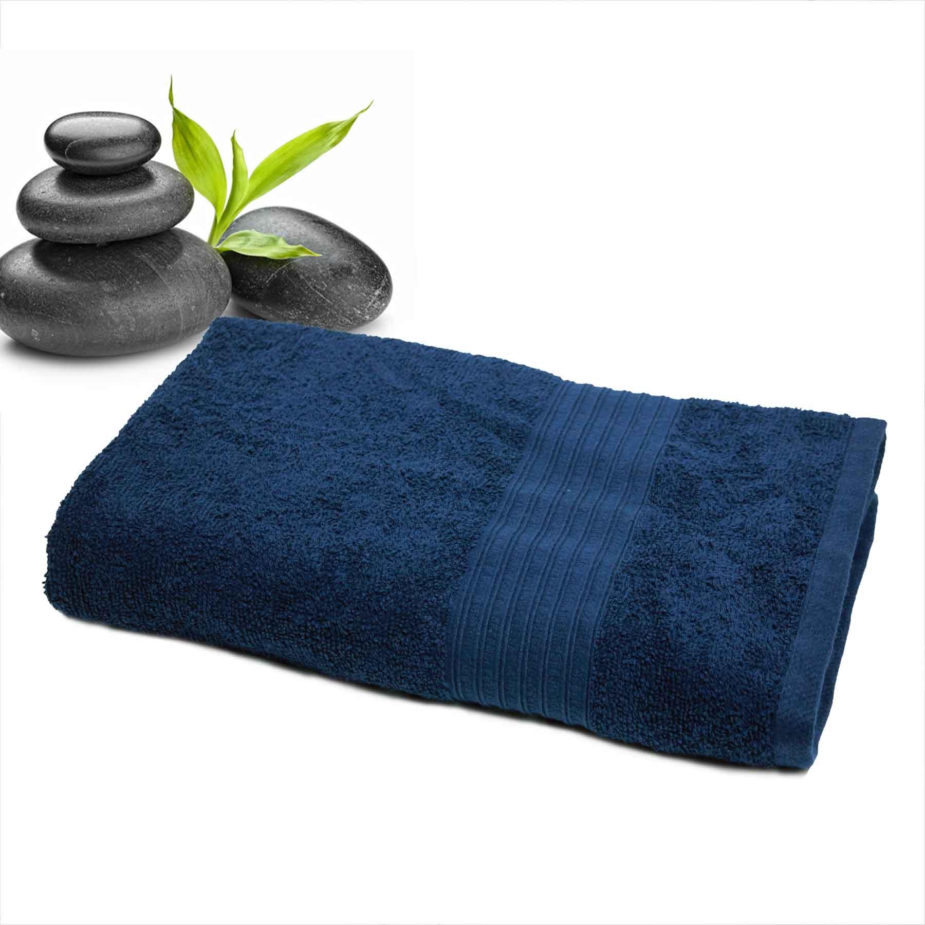 DIVINE CASA Single Cotton Bath Towel Navy (Ladies)