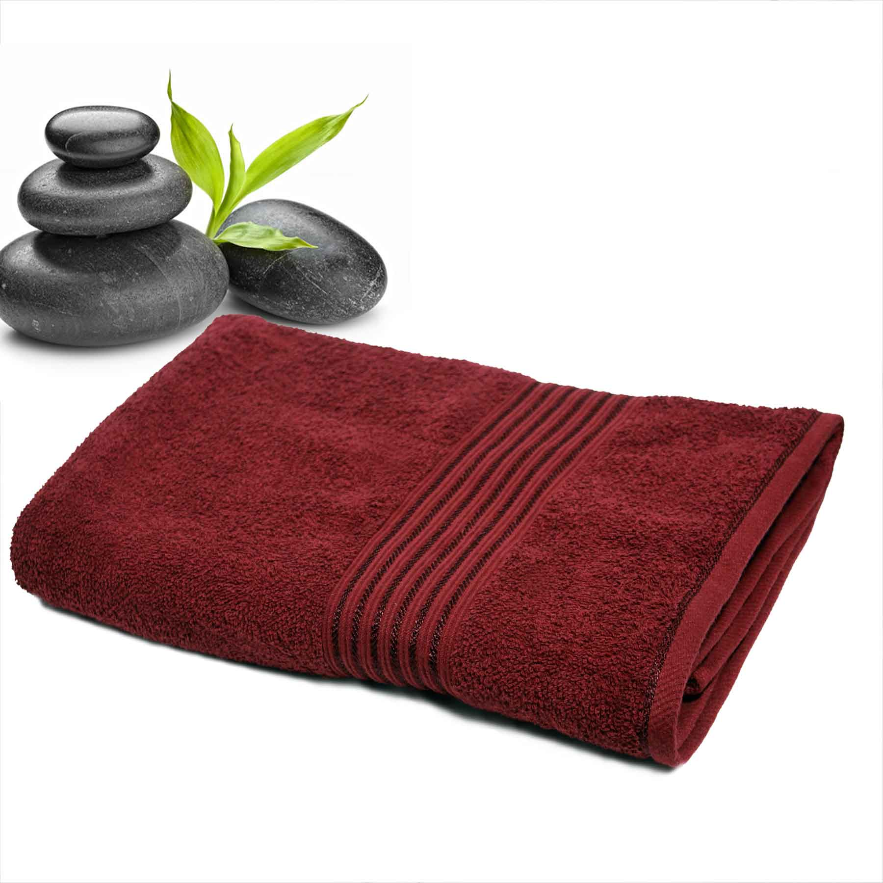 DIVINE CASA Single Cotton Bath Towel Maroon (Ladies)
