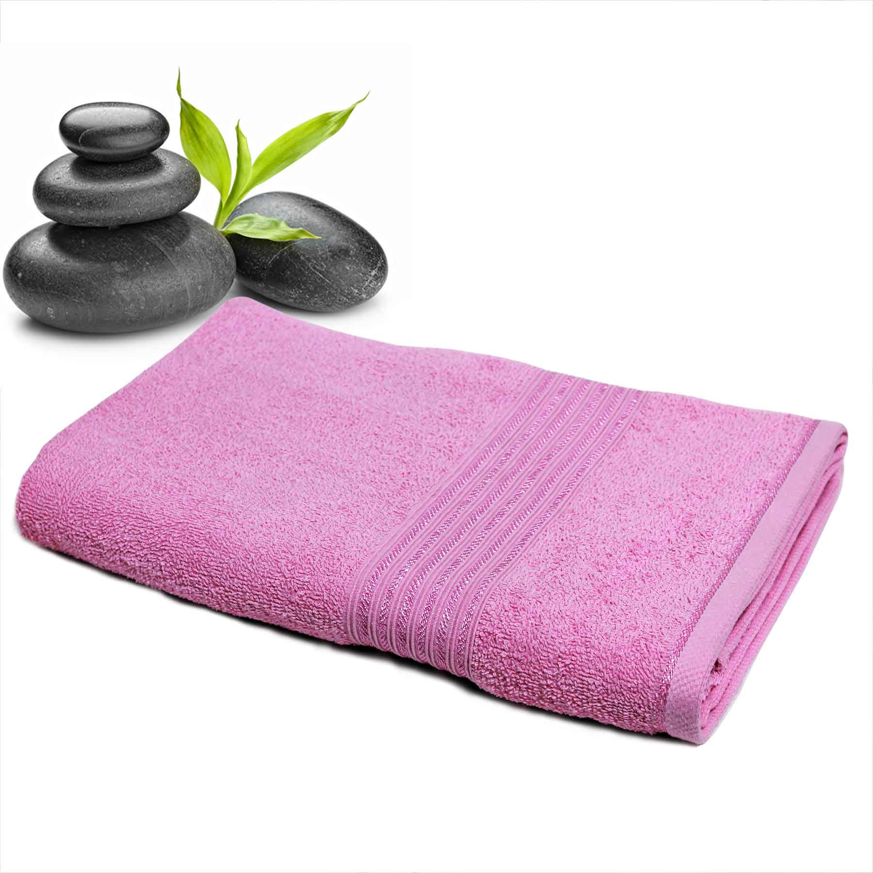DIVINE CASA Single Cotton Bath Towel Pink (Ladies)
