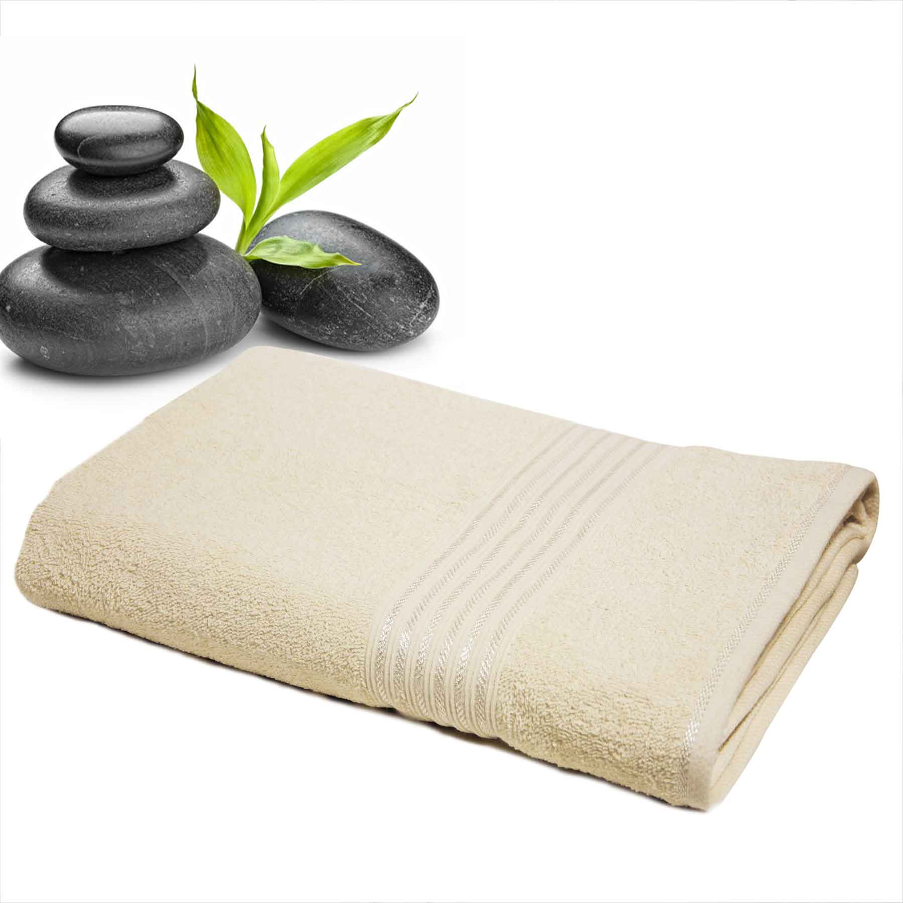 DIVINE CASA Single Cotton Bath Towel Ivory (Ladies)