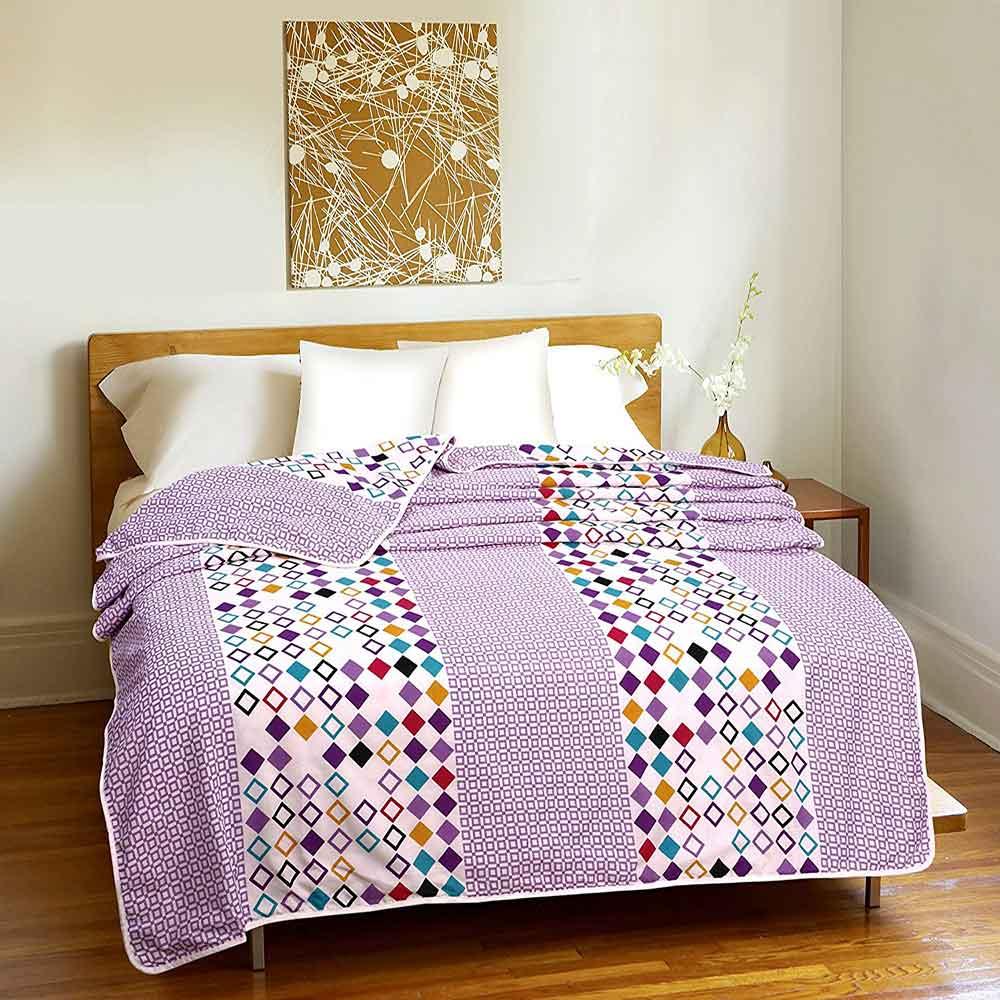DIVINE CASA Single Polyester Printed Dohar – Light Pink