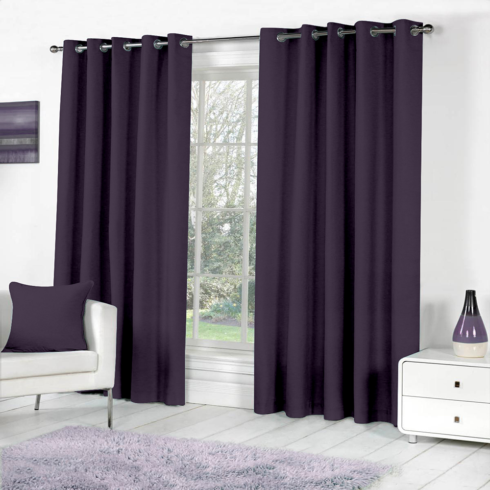 Curl Up Blackout Curtains Panel for Door Room Darkeing – Thermal Insulated Rod Pocket Blackout Drapes/Panels/Draperies for Living Room Blackout Curtain 1 Panel (W47 x L84 – inch, Purple)